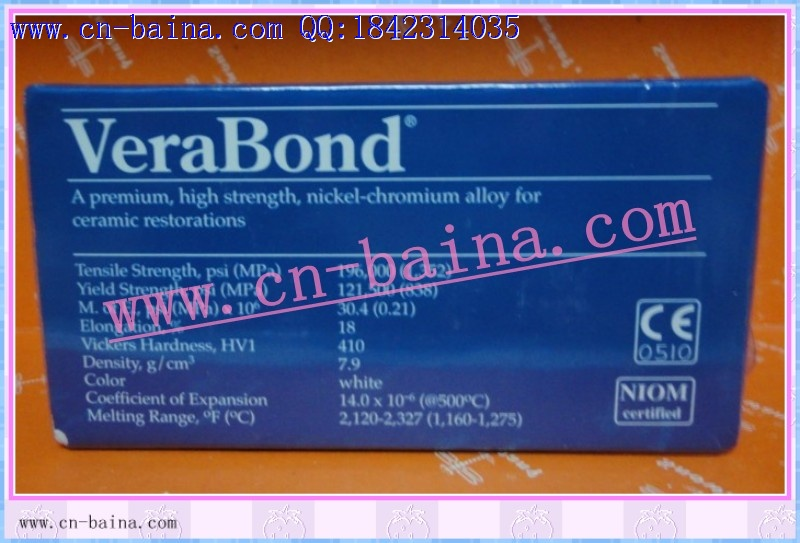 verabond alloy nickle chromium alloy